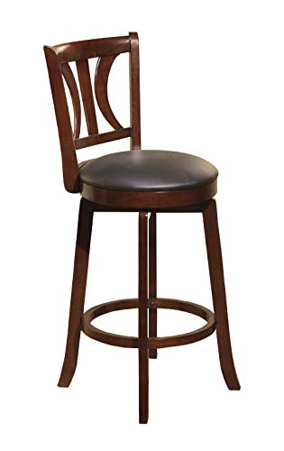 Target Marketing Systems 29-Inch Houston Upholstered Swivel Bar Stool, Mahogany