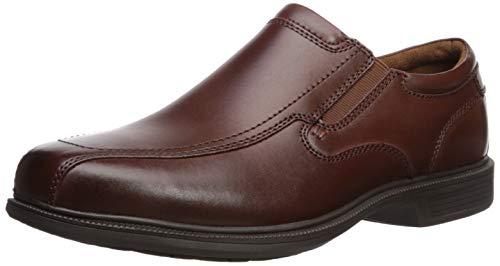 Nunn Bush Men's  Bleeker Street Slip On Loafer with KORE Slip Resistant Comfort Technology, Cognac, 9 Medium US (Nunn Bush Colton Mens Leather Walking Shoes)