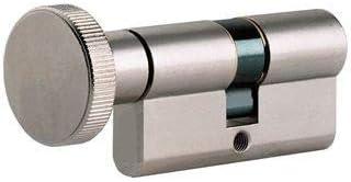 Barillet de verrouillage Bonne s/écurit/é en UPVC composite Tourne-pouce Serrure de porte cylindrique Euro Remplacement pouce//Euro Double serrure Chrome poli
