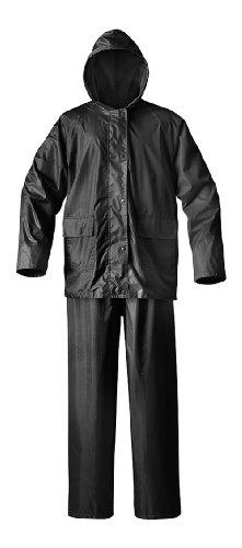 Raider Simplex Rainsuit (Black, Large) ()
