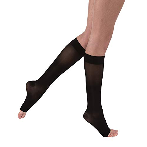 BSN Medical 119511 Jobst Compression Stocking, Knee High, Open Toe, 15-20 mmHG, Medium, Classic Black by BSN Medical/Jobst