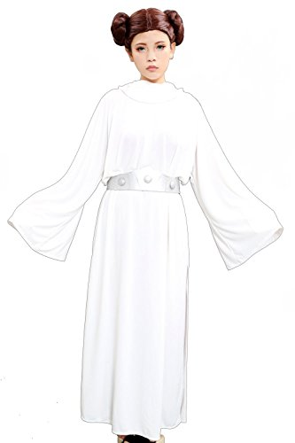 XCOSER Deluxe Women's Princess Leia Costume Dress & Wig Set for Halloween Costume (Custom Princess Leia Costumes)
