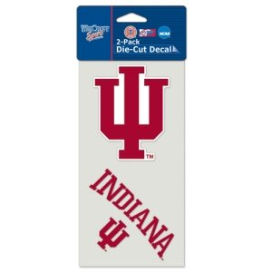 WinCraft NCAA Indiana University Perfect Cut Decal (Set of 2), 4