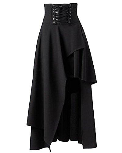 Volants Aspicture Gothique Asymtrique Ourlet Lacets Femme Jupe Longue Lolita Jupes 5q6ngf