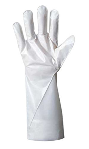 Ansell Size 11 White Barrier 380 - 410 mm Non-Woven Lined 2.5 mil Five Layer Laminated Film Hand Specific Chemical Resistant Gloves