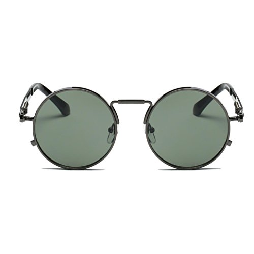 círculo Steampunk hombres estilo metálico redondo gafas polarizadas y de mujers sol inspirado para retro Gusspower E dHq7wI7
