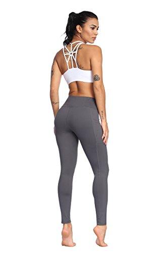 Fengbay High Waist Yoga Pants, Pocket Yoga Pants Tummy Control Workout Running 4 Way Stretch Yoga Leggings by Fengbay (Image #4)