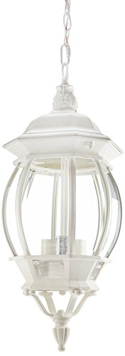 Nuvo Lighting 60/894 Three Light Hanging Lantern, White (Ceiling Pendant White)
