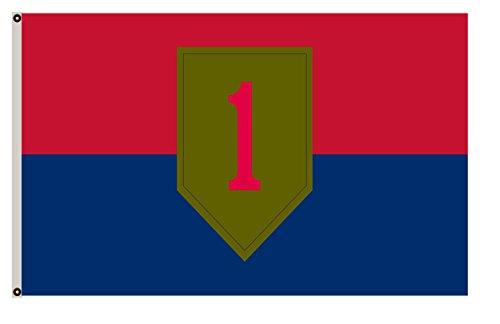 Fyon Large Flag United States Army 1st Infantry Division Flag 3X5Ft