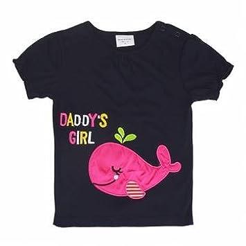 2015 nueva niña verano para bebé niños delfín negro camiseta de manga corta de algodón: Amazon.es: Hogar