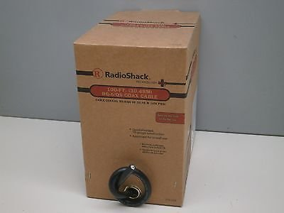 100ft Radioshack RG-6/QS In-Wall Quad-Shield Shielded Coaxial CoaxTV Cable