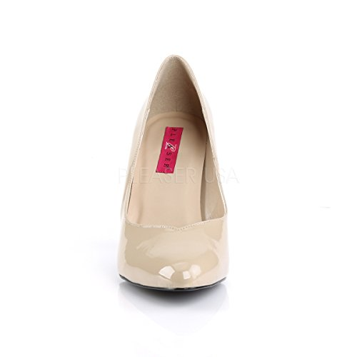 Higher Heels Pleaser Pink Label Womens Oversize Court Shoes Dream-420 Cream Patent Big Size cream patent 5cbPVO71