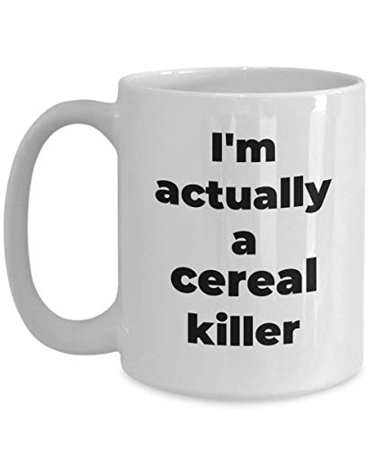 Cereal Killer Mug Funny Costume Coffee Cup Novelty Ceramic Gift Ideas -