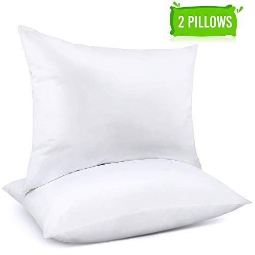 Adoric Pillows, Pillows for Sleeping (2-Pack) Down Alternative Bed Pillows 100% Cotton - Queen
