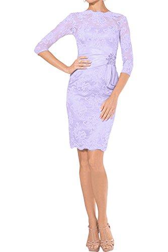 Etuikleider Abendkleider Cocktailkleider Braut Blau Lilac Partykleider Damen Spitze mia Kurzes Promkleider Festlichkleider La PqRUTT