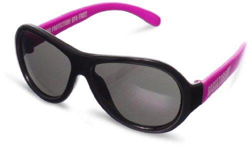 Babiators Unisex Baby Sneak Attack Junior Sunglasses, Pink And Black, - Sunglasses Regulation