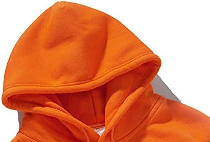 UELEGANS Felpa con Cappuccio Donna Caldo Materiale in Pile Polare Primavera Tempo Lunghe da Donna Fashion Casual Top Elegante Camicetta,Giallo,L