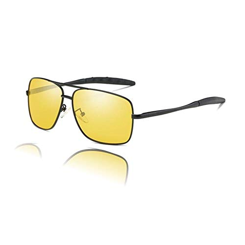 The Original Night Driving Glasses From GPSEED For Men and Women | Glare Reducing Assured | Polarized HD Yellow Tint Lens | Blocks All of UV Rays | Anti-Glare Sunglasses | Unbreakable Frame | w/ Case