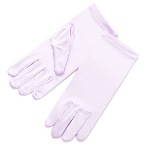 (ZaZa Bridal Girl's Fancy Stretch Satin Dress Gloves Wrist Length 2BL-Light Pink )