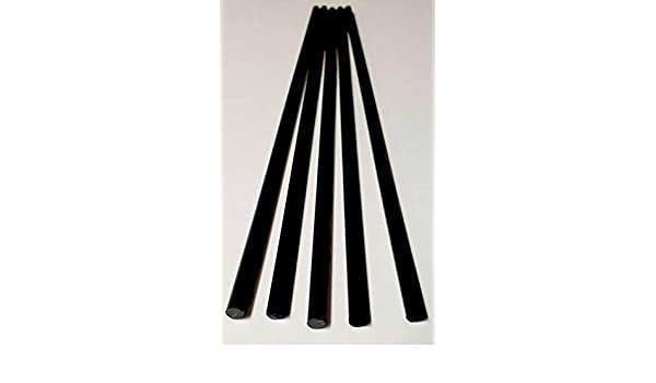 ".25 Dia 100 Pcs 1//4/"" Diameter x 12/"" Inch Long Color Opaque Black Acrylic Plexiglass Rods 6.35mm Diameter Clear Solid Black"