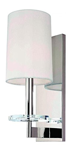 Polished Nickel Single Light Up Lighting Wallchiere Style Wall Sconce with Cylinder Shaped Shade