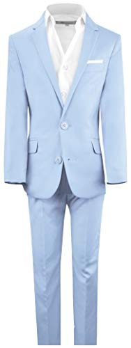 - Black n Bianco Boys' First Class Slim Fit Suits Lightweight Style. Presented by Baby Muffin (18, Light Blue)