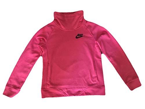 Nike Girls Funnel Neck Sweatshirt (Pink, Lage - 12-13)