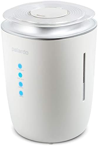 Ultrasonic Cool Warm Mist Humidifier – Whisper Quiet Humidifier for Bedroom, Large Room, Babies, Home – 4L Capacity, 24h Humidifying – for Dry Cough, Nose, Skin Eyes, Rooms With Air Conditioning