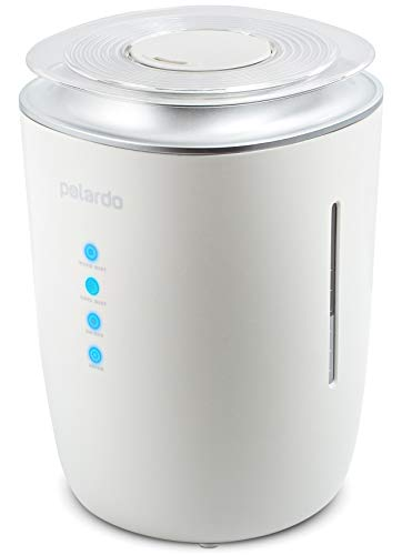 Ultrasonic Cool & Warm Mist Humidifier - Whisper Quiet Humidifier for Bedroom, Large Room, Babies, Home - 4L Capacity, 24h Humidifying - for Dry Cough, Nose, Skin &Eyes, Rooms With Air Conditioning