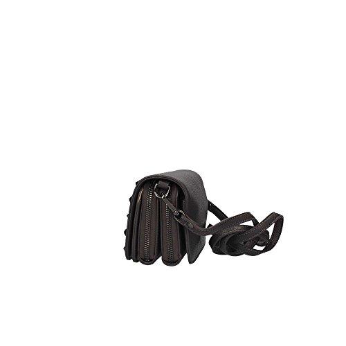 pochette PATRIZIA PEPE con borchie e pietre c/tracolla staccabile larg. 17 alt.11 p6 Darkgrey