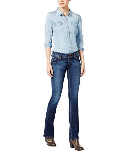 Hudson Jeans Women's Petite Size Signature Bootcut Flap Pocket Jean, Patrol Unit 2, 25