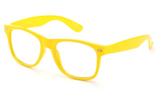 Clear Lens Fashion Fun Nerd Cosplay Geek Colors Rainbow Multi Color BUY 3 GET 50% - One Sunglasses 50% Get Off One Buy