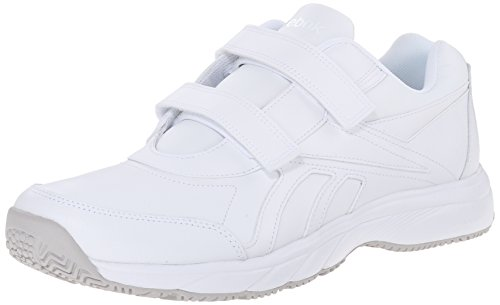 Reebok Men's Work N Cushion Leather KC Walking Shoe, White/White, 12 M US (Reebok Mens Spring)