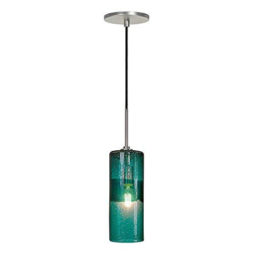 Jesco Lighting PD408-TE/BN 1-Light Line Voltage Pendant and Canopy with Brushed Nickel Socket, -