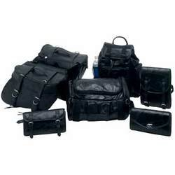 - Diamond Plate 7pc Rock Design Genuine Buffalo Leather Motorcycle Luggage Set