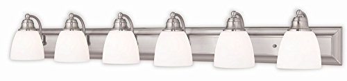 Livex Lighting 10506-91 Springfield 6 Brushed Nickel Bath Light (Livex Light Fixture)