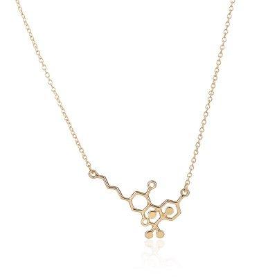 WLL THC Molecule Necklace, Cannabis Marijuana Molecule Jewelry, Geek Chemical Jewelry for Women
