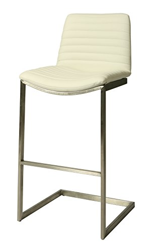 Pastel BX-210-26-SS-978 Buxton Barstool, 26-Inch, Ivory