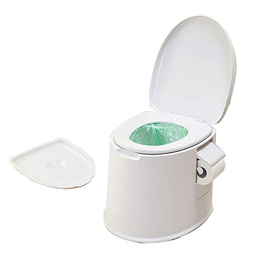 XQ Portable Camping Toilet with Thickened Pregnant Women Elderly Recreation Flush Potty Commode Sanitation Supply for Outdoor Indoor Caravan Boats Travel Hiking.
