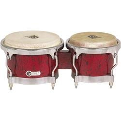 LP Classic II Bongos with Chrome Hardware Red Lava by Latin Percussion