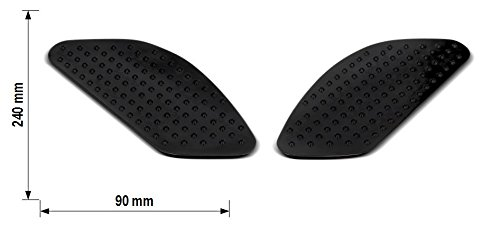 Seiten-Tankpad f/ür Honda CB 1300 S Motea Grip M schwarz