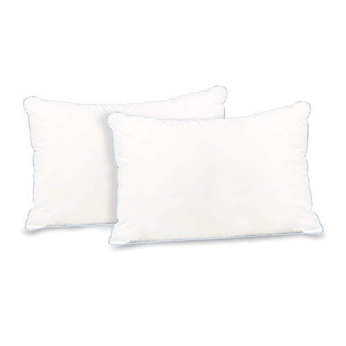 Cardinal & Crest Firm Support Cotton Pillow (2 Pack) | Set of 2 Hypoallergenic 300 Thread-Count Cotton Pillows, Standard