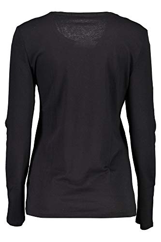 Rn Tee A996 Donna Lunga Nero A Top Shiny Guess Ls Manica Night OwBggq