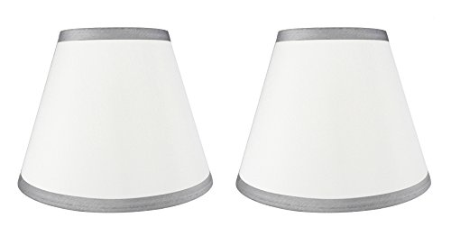 Urbanest Set of 2 Coolie Hardback Lampshade, Faux Silk, 5-in