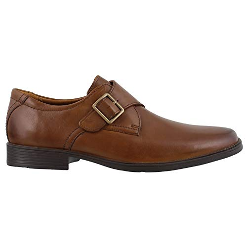 Clarks Men's Tilden Style Monk-Strap Loafer, Dark tan Leather, 7.5 M ()