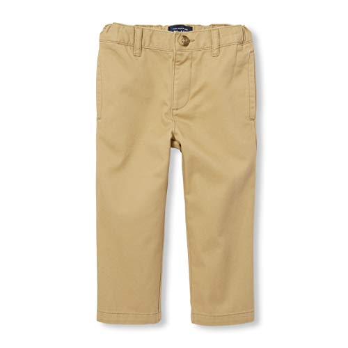 The Children's Place Baby Boys' Chino Pant, Flax, 18-24 Months