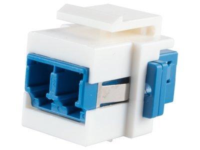 Networx Fiber Optic Keystone Coupler - LC to LC Singlemode Duplex - White (Optic Coupler)