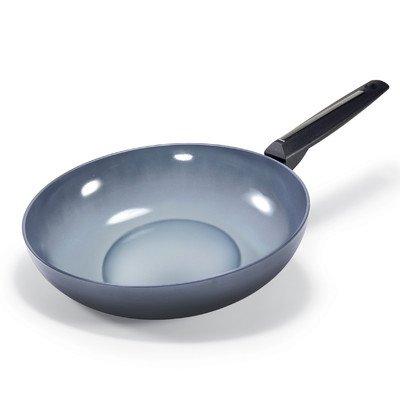 Moneta 2394328 Azul Gres Ceramic Coated Wok, 11.5-Inch