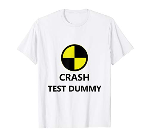 Crash Test Dummy Easy Last Minute Funny Halloween Costume T-Shirt]()