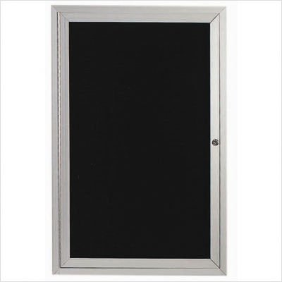 Number of Doors Directory Cabinet Enclosed Wall Mounted Bulletin Board Frame Color Size Clear Satin Anodized 36 H x 36 W One